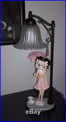 Extremely Rare! Betty Boop Under Street Lantarn Big Figurine Statue Lamp