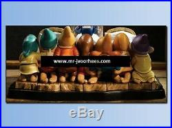 Extremely Rare! Disney Snow White And the 7 Dwarfs In Bed LE of 250 Big Statue