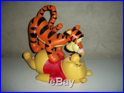 Extremely Rare! Disney Winnie the Pooh and Tigger Playing Big Figurine Statue