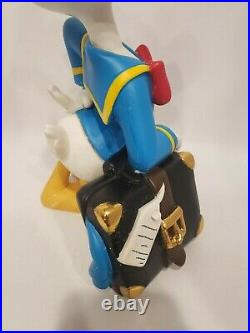 Extremely Rare! Donald Duck with Suitcase Big Figurine Statue pre-owned