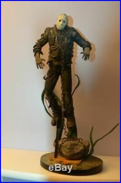 Extremely Rare! Friday The 13th Jason Voorhees Under Water Big Figurine Statue