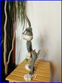 Extremely Rare! Looney Tunes Bugs Bunny Standing Big Figurine Statue