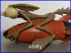 Extremely Rare! Looney Tunes Wile E Coyote on Rocket Big Figurine Statue