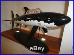Extremely Rare! Tintin The Shark Submarine Big Figurine Statue LE of 7000
