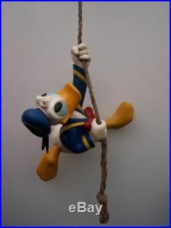 Extremely Rare! Walt Disney Donald Duck Climbing Rope Big Figurine Statue
