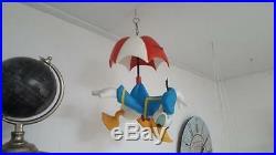 Extremely Rare! Walt Disney Donald Duck Parachuting Big Figurine Statue