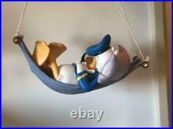 Extremely Rare! Walt Disney Donald Duck Sleeping in Hammock Big Figurine Statue