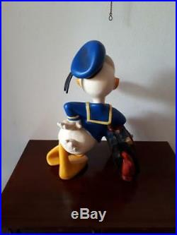 Extremely Rare! Walt Disney Donald Duck with Suitcase Big Figurine Statue
