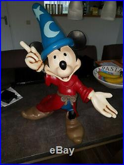 Extremely Rare! Walt Disney Mickey Mouse Fantasia Big Old Figurine Statue