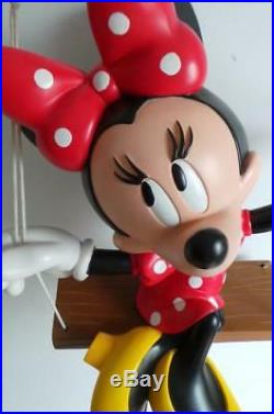 Extremely Rare! Walt Disney Minnie Mouse on Swing Big Figurine Statue