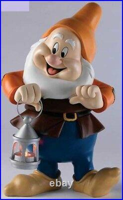 Extremely Rare! Walt Disney Snow White Happy with Lantarn Big Figurine Statue