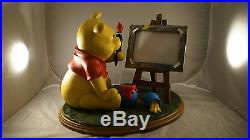 Extremely Rare! Walt Disney Winnie the Pooh as Painter Big Figurine Statue