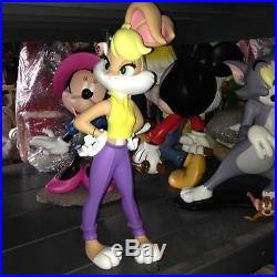 Extremely Rare! Warner Bros Looney Tunes Big Lola Bugs Bunny Figurine Statue