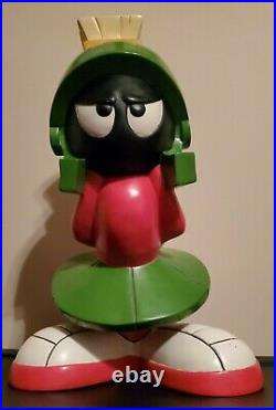 Extremely Rare! Warner Bros Looney Tunes Marvin the Martian Big Figurine Statue