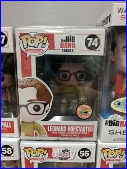 Funko Pop Big Bang Theory Rare Set Sheldon Penny Leonard Amy Howard Raj + SDCC