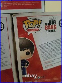 Funko Pop Big Bang Theory Set of 7 Vaulted Rare Some Have Box Damage