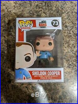 Funko Pop! Big Bang Theory Sheldon Cooper (Star Trek) #73 Rare WithPop Protector