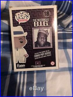 Funko Pop Pop Rocks Notorious Big Biggie Damaged Rare Vaulted With Hard Stack 18