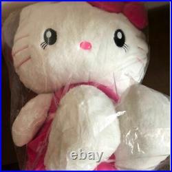 Hello Kitty USJ Limited BIG Plush Doll Pink Dress Sanrio Japan Rare New F/S