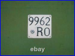 Italy Rare Metal Motorcycle License Plate Big Star Italian Number Plates