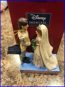 Jim Shore Disney Rapunzel & Flynn Wedding The Big Day 4056751 New in Box RARE