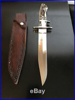Ken Steigerwalt Custom Big Bear Sub Hilt Stag Knife-loveless Design-rare