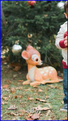 Large RARE Bambi Disney Store Display Big Figure Lawn Garden Statue Deer Decor