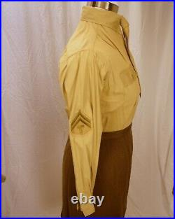 Large WWII Enlisted WAC Uniform big enough to fit modern woman + rare coverall