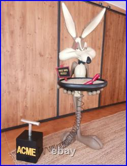 Life Size Super Rare Wile E Coyote Waiter Butler Statue Big Fig Looney Tunes