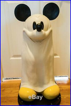 Mickey Mouse Light Up RARE Big Statue Halloween Ghost 30