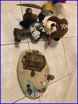 Mickey Mouse Pirate Of The Caribbean Disney Big Fig Disneyland World Figure Rare