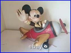 Mickey Mouse store display plane airplane big fig figure rare Disney figurine