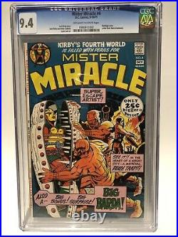 Mister Miracle #4 CGC 9.4 First Appearance Big Barda. Kirby NM High Grade RARE
