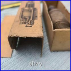 NOS Boxed Brass Sootless 1/2 Spark Plug Gas Engine Plug Collection Vintage Antq