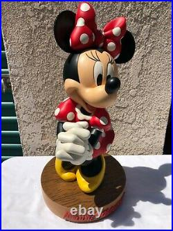 New! Rare Limited Production Disney Minnie Mouse Big Fig Figure
