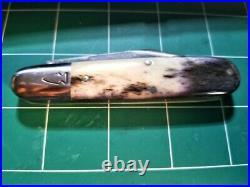 Northwoods Knives Big Bay Giraffe Bone 1095 Carbon Steel Rare Traditional BEAUTY