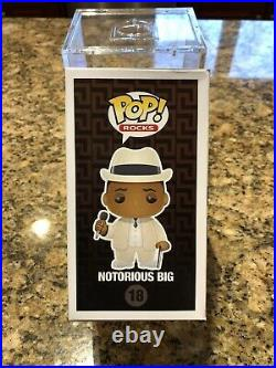 Notorious BIG #18 Funko Pop Authentic Rare With Pop Stack Case