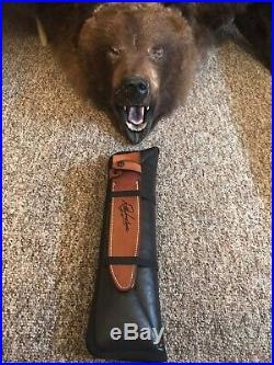 R. W. Loveless Custom Knife Maker Big Bear Sub Hilt Fighter Knife-sheath-rare