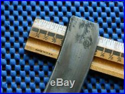 RARE 1+ inch Vintage Mid -1800s E L & Co Shefield Straight Razor BIG CHPPPER