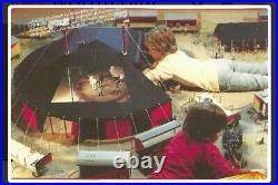 RARE! 1970s Rasalto Big Top Model Circus Tent G Scale 120 4ft Main Tent