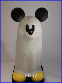 RARE Big Fig Mickey Mouse Ghost with Base Walt Disney World Halloween READ