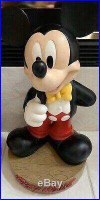 RARE Big Fig Mickey Mouse Tuxedo Disney Disneyland DIsney World Figure Fab 5