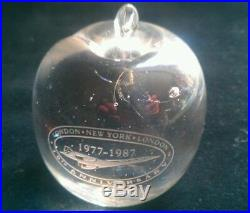 RARE CONCORDE 10th ANNIVERSARY BIG APPLE PAPERWEIGHT