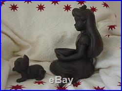 RARE Disney Alice in Wonderland Garden Lawn Statue Big Fig Figurine with Dinah Cat