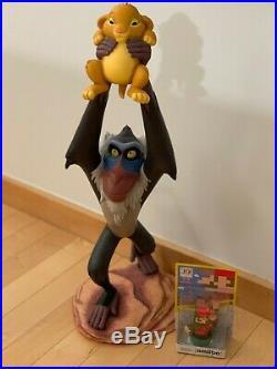 RARE Disney Big Fig Lion King Iconic Rafiki Baby Simba Figure Statue LE235