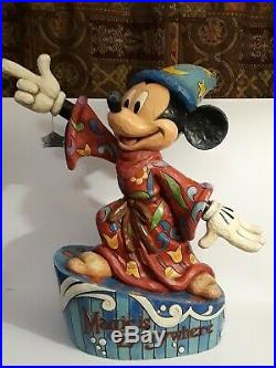 RARE Disney Jim Shore Mickey Mouse Sorcerer Magic is Everywhere Big Figure 24