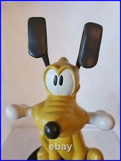 RARE Disney Pluto Garden Statue Big Fig Disney Direct 12 Excellent Condit
