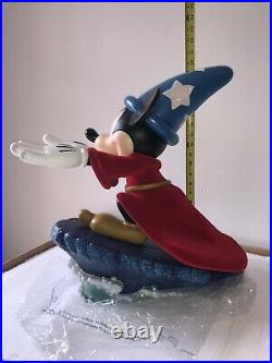 RARE Disney Theme Park Mickey Mouse Sorcerers Apprentice Big Fig LE 120
