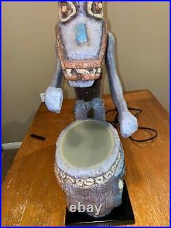 RARE Disneyland Tiki Drummer Lamp Big Fig Enchanted Tiki Room LE 1000 COA