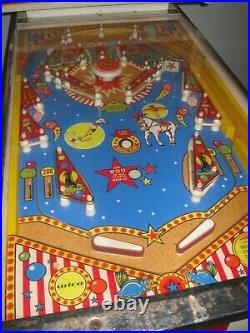 RARE Hard to Find 1977 Wico Big Top Pinball Machine See it Working in Video
